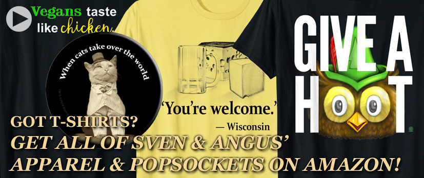 Sven & Angus Funny T-Shirts on Amazon